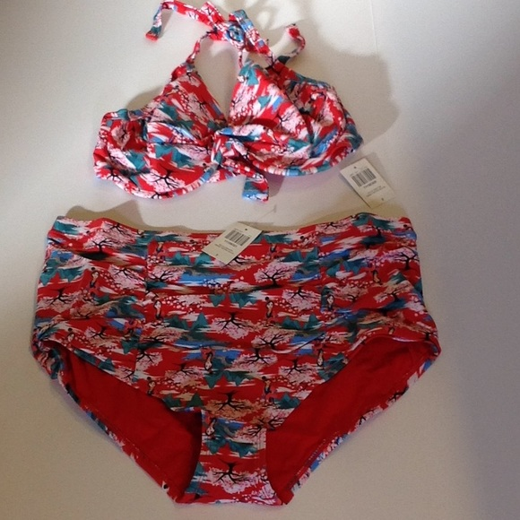 46d0a24b1593a Disney s Retro Mulan plus size bikini set Sz.2XL